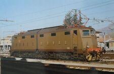 C0288 TRENI FERROVIE DELLO STATO LOCOMOTORE E 636 437 SULMONA DICEMBRE 1987