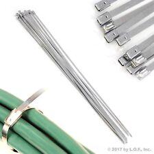 "10 ea Heavy Duty 4.6mm x 400mm (1/4"" X 15.75"") 304 Exhaust SS Cable Zip Ties New"