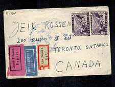 1948 Linz Austria Displaced Person Camp Tiler DP cover to Canada Tancu Sulim Exp