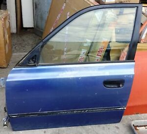 DOOR FRONT LEFT BARE HYUNDAI ACCENT 5 DOORS MODEL 1999 02 USED