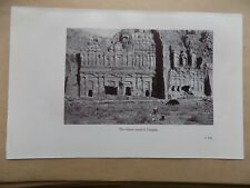 Lawrence of Arabia Book Page, 2 Sides, 3 Storied Temple & Araby