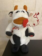 Crazy Cow Awesome Black White Cow Plush 12� Tall Vintage