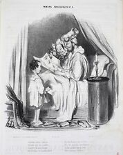 Honore Daumier France 1808 -1879 Lithograph Moeurs Conjugales No 4.