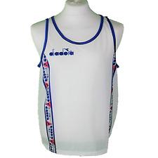 Vintage DIADORA Sports/Athletics VEST White     Size XL     225 G