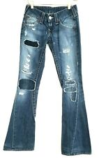 True Religion Limited edition patchwork flared Joey Jeans 24