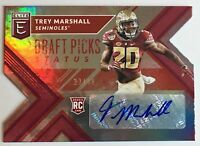 2018 PANINI ELITE DRAFT PICKS TREY MARSHALL ROOKIE #D/49 RC AUTOGRAPH AUTO DC