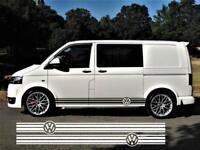 VW Side Stripes Decals Transporter T4 T5 T6 Campervan Stickers Volkswagen T6