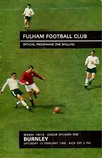 Fulham v Burnley programme, Division 1, February 1968