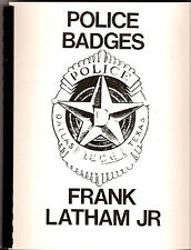 POLICE BADGES book by Latham (Copyright reproduced Lucas)