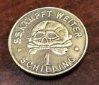 WW2 WWII German coin SS Kampft Weiter 1 Schilling Kantine bar money