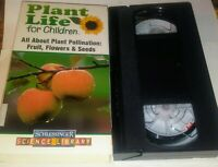 VHS Plant Life for Children All About Pollenation Kids Educational Videotape