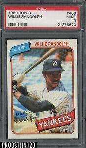 1980 Topps #460 Willie Randolph New York Yankees PSA 9 MINT