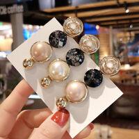 Fashion Women Pearl Hair Slide Clips Snap Barrette Hairpin Pins Hair Accessories
