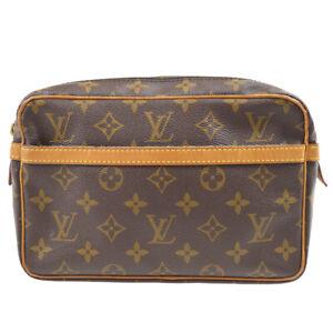 LOUIS VUITTON COMPIEGNE 23 SECOND CLUTCH BAG PURSE MONOGRAM M51847 btp 80891