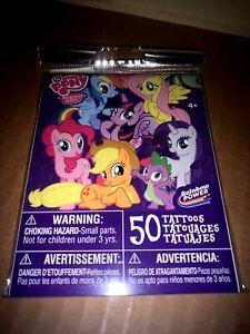 2 Packs My Little Pony 100 Temporary Tattoos Hasbro Rainbow Power Party Favor 😍