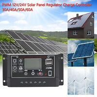 30-60A Solaire Contrôleur De Charge Panel Batterie Régulateur 12V/24V 4-Stage