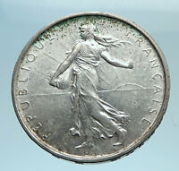 1963 FRANCE French LARGE with La Semeuse SOWER WOMAN Silver 5 Francs Coin i77680