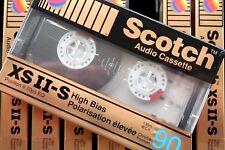 SCOTCH XS II-S 90 PREMIUM HIGH BIAS TYPE II CHROME BLANK AUDIO CASSETTE - 1990