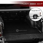 For 1999-2007 Silveradosierra 6.5 Blk Rubber Diamond Truck Bed Floor Mat Liner