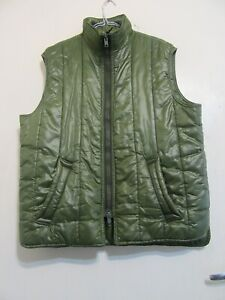 VINTAGE BARBOUR NYLON QUILTED SHOOTING GILET WAIST COAT JACKET SIZE XL BODY WARM