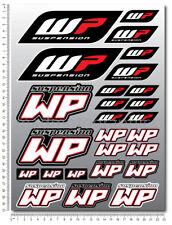 WP White Power shock fork sponsor decals set 26 stickers ktm duke suzuki honda