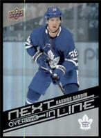 2019-20 UD Overtime Wave 2 Next In Line #NL-11 Rasmus Sandin Toronto Maple Leafs