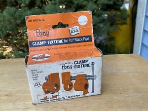 """PONY Pipe Clamp Fixture 1/2"""" No. 52 Made in USA"""