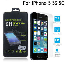 Premium Real Tempered Glass Screen Protector Film for Apple iPhone 5S SE