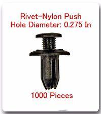 """1000 Pc Rivet Nylon Push Hole Dia: 0.275"""" Fits:4Runner Corolla MR2 Pickup Tercel"""