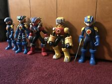 "MegaMan NT Warrior 10"" Inch 5 Action Figure Lot RARE"