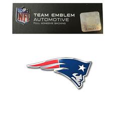 NFL England Patriots Aluminum  Emblem Decal Size Aprx. 4 1/4 x 2 1/4 inches