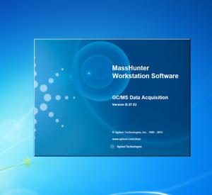 Agilent OpenLab MassHunter loaded on Dell PC Windows 7