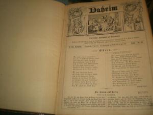 DAHEIM - Ein deutsches Familienblatt mit Illustrationen von 1882 - 32,5 x 23,5cm