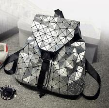 women girls backpack female Daily backpack Geometry Package Sequins Folding Bags