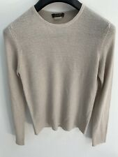 J Crew Acrylic Nylon Crisp Knit Beige Sweater S