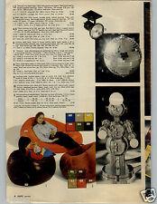 1979 PAPER AD Lamp Robot Chrome Disco Ball 3-Way Nose Head Hands Beanbag Chair