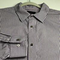 Banana Republic Mens Long Sleeve Button Up Shirt XXL Multicolor Stripes Slim Fit