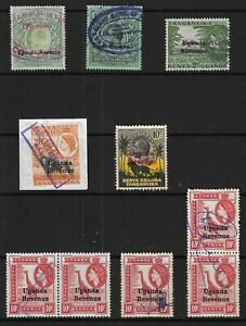 KUT/ East Africa & Uganda 1904-54 Mixed Lot Selection of Revenues Used