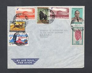 CONGO 1960s TWO AIRMAIL COVERS LEOPOLDVILLE & KALINA TO GENEVA SWITZERLAND