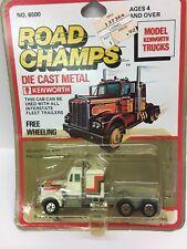 Vintage Road Champs Kenworth Free Wheeling Truck White 1/64 Diecast #6500