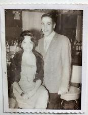1960s Attractive Negro-Hispanic  Couple  3 1/4 x 4 1/4  POLAROID  Photo