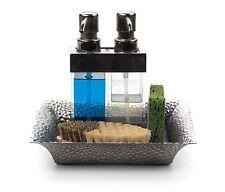 RSVP Kitchen Tray Stainless Steel Bath Organizer Bar Storage Soap Oil K-TRAY