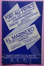 partition PORT-AU-PRINCE - EL MARINERO - orchestre - S.E.M.I.