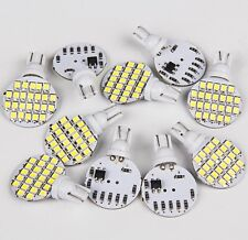 10x Super Bright 4.8w T10 921 6000k White Car RV Wedge 24SMD LED Light Bulb 12v