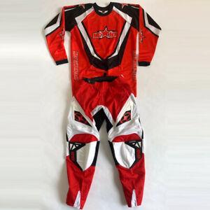 No Fear Spectrum Motocross Set Hose Trikot Mgmx Rot/Weiß/Schwarz