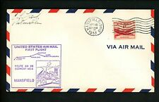 US Postal History Airmail CAM AM 88 Mansfield OH 1953 AAMC #88E37 Map Factory
