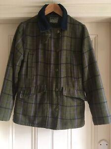 Ladies Hoggs of Fife Shooting Country Teflon-Coated Tweed Jacket Size 10