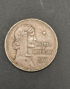 Caribbean Peso Silver 1937
