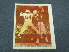 Oct 29, 1961 Chicago Bears vs Baltimore Colts Official Program