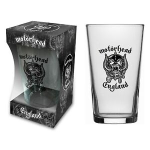 Motorhead England Logo Beer Glass (rz)